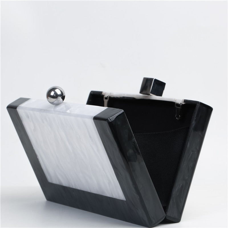 Acrylic Clutch Luxury Marble Bag