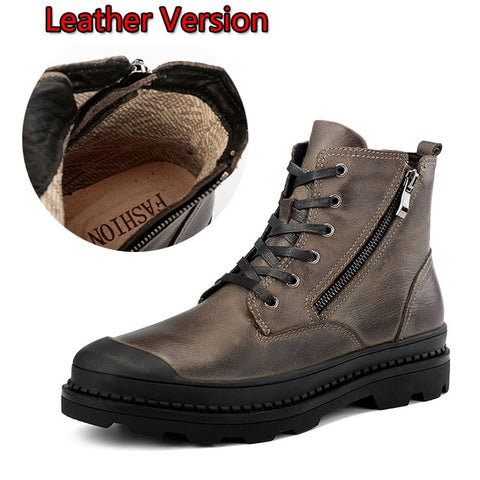 Genuine leather Autumn Men Boots Winter Waterproof Ankle Boots Martin Boots Outdoor Working Boots Men Shoes