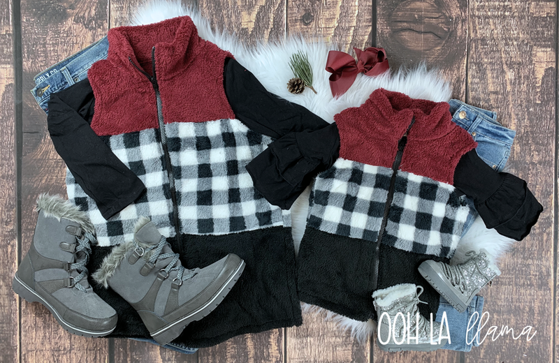 Mommy & Me Buffalo Plaid Vest