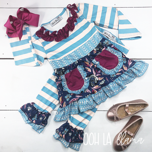 Frozen Flowers Pant Set