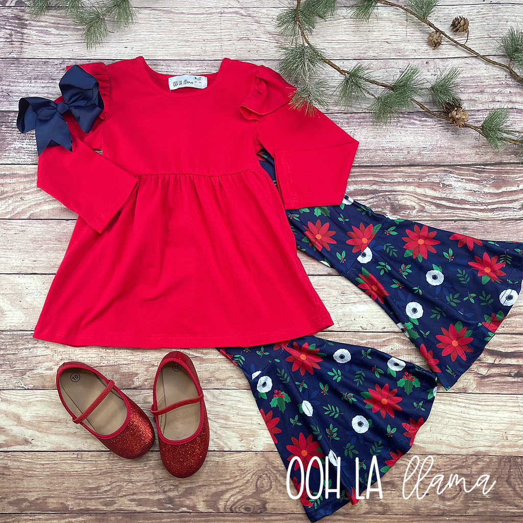 "Happy ""Holly"" Days Pant Set"