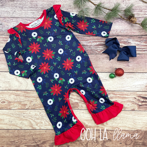 "Happy ""Holly"" Days Romper"