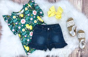 Lemon Garden Short Set