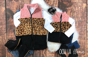 Mommy & Me Leopard Vests