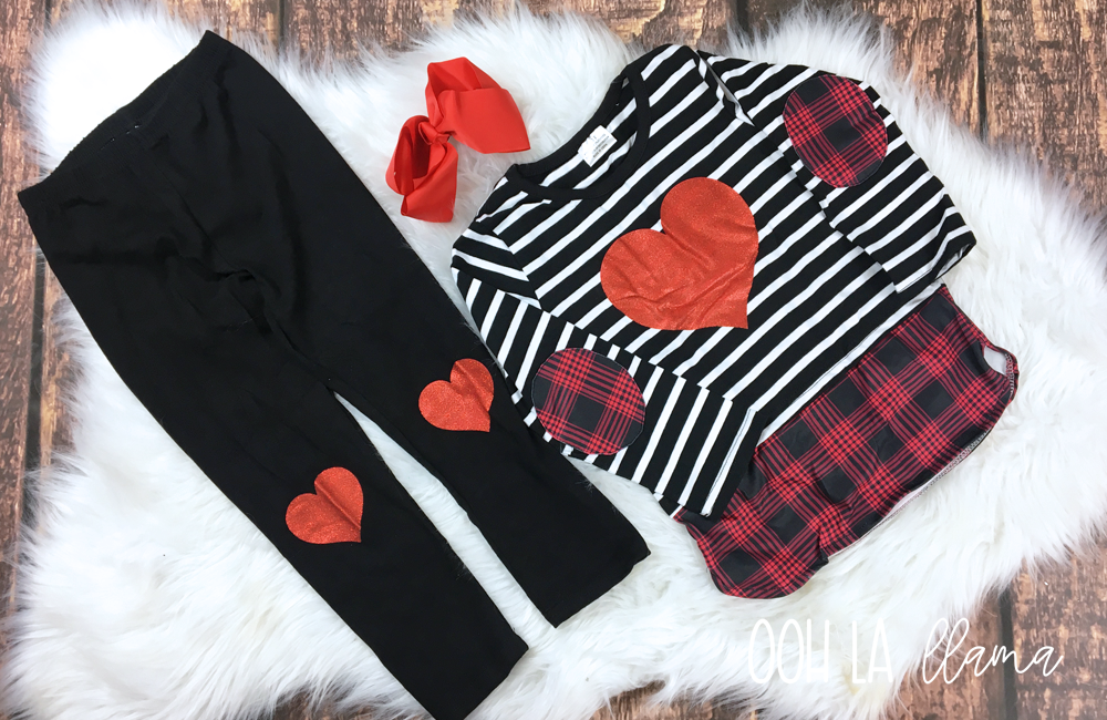 Sparkle Heart Pant Set