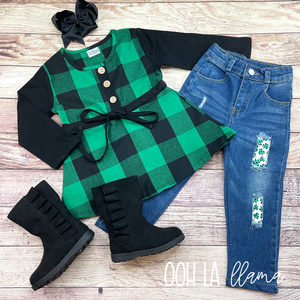 St. Patrick's Denim Set
