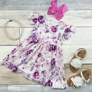 Lovely Lilac Floral Dress
