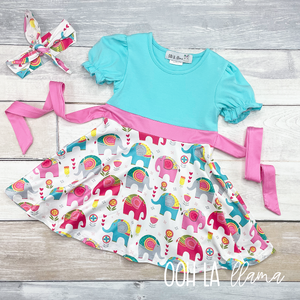 """Ellie"" Elephant Dress"
