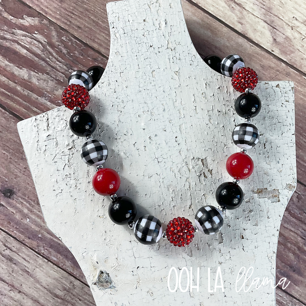 Buffalo Plaid Chunky Necklace