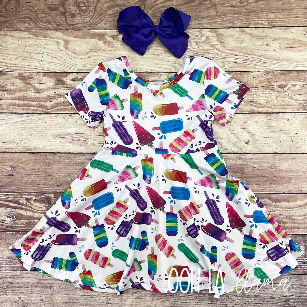 Watercolor Popsicle Dress