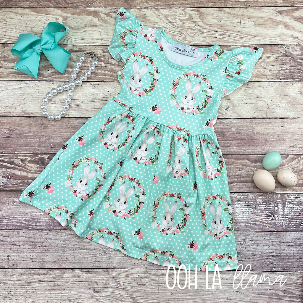 Floral Wreath Bunny Dress