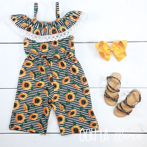 Sunflower Stripe Romper
