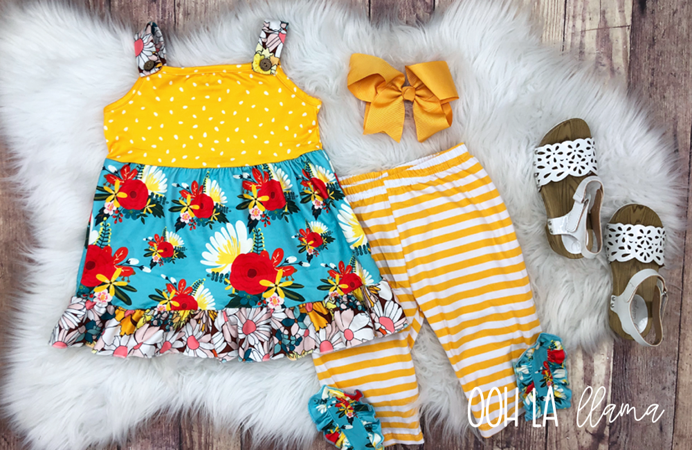 Sunshine Blooms Short Set