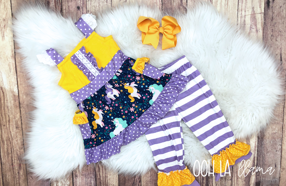 Unicorn Party Capri Set