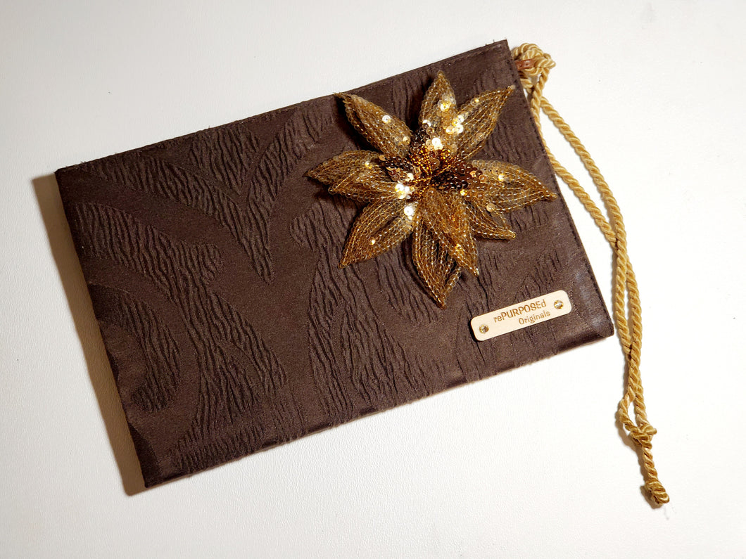 rePURPOSEd Originals Flower Bronze Clutch