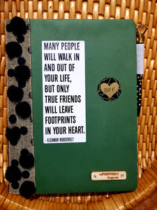 Many People Walk In and Out Your Life Notebook & Friendship Card Insert