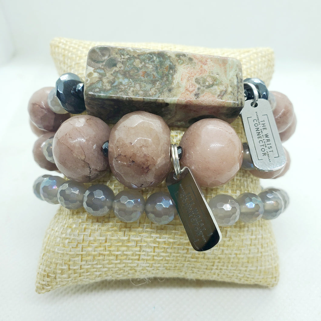 Mauve Me Stretch Bracelet Stack