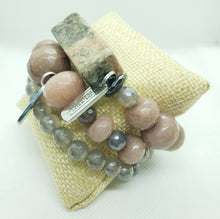 Load image into Gallery viewer, Mauve Me Stretch Bracelet Stack