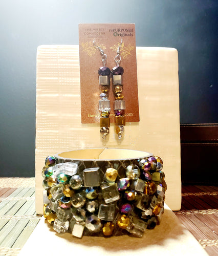 Glamour rePURPOSEd Originals Cuff Bracelet and Earring Set