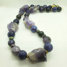 Load image into Gallery viewer, Amethyst Rock Necklace and Bracelet Set