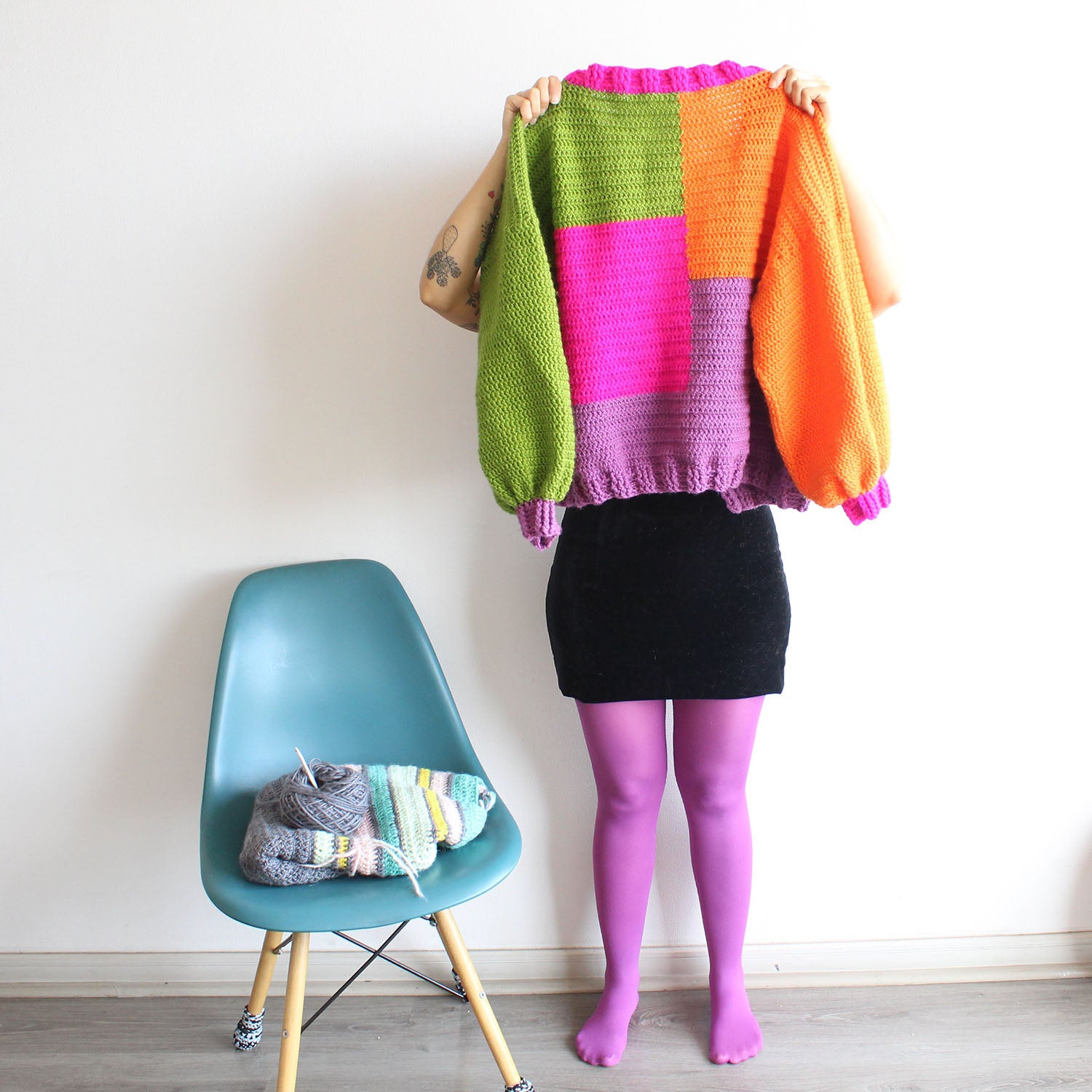 Cardigan Oversize Full Color