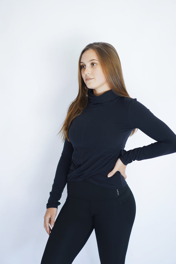 Long Sleeve Turtleneck - Noire