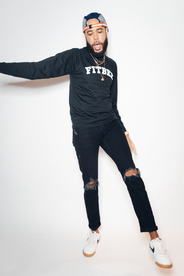 Fitbee College Crewneck- Black