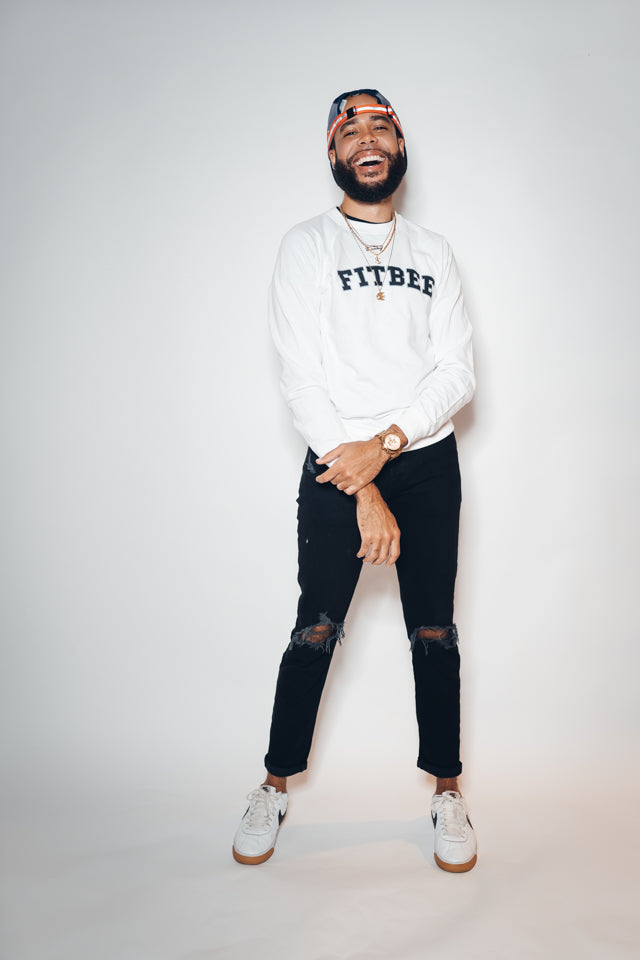 Fitbee College Crewneck- White