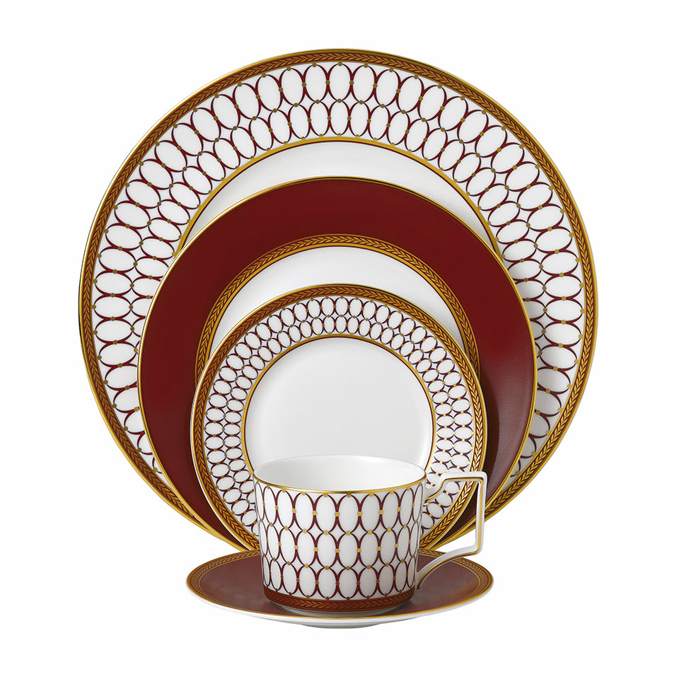 Wedgwood Renaissance Red 5 Piece Place Setting