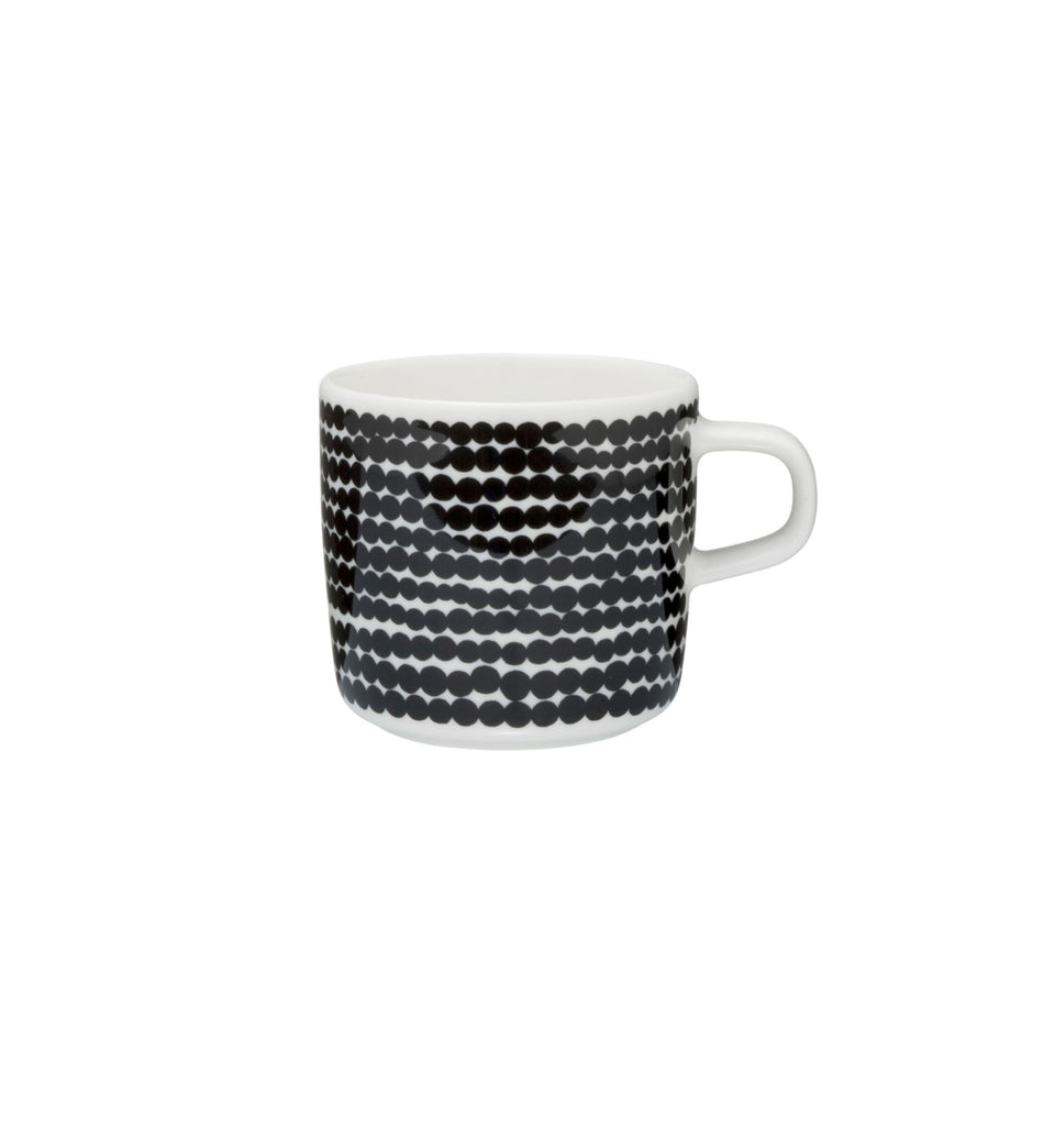Oiva/Siirtolapuutarha coffee cup 2 dl - black