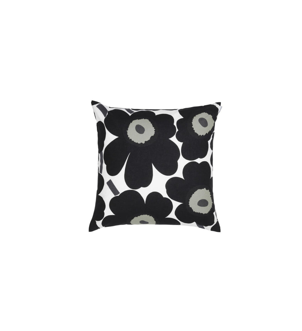 Pieni Unikko cushion cover 50x50 cm - Black
