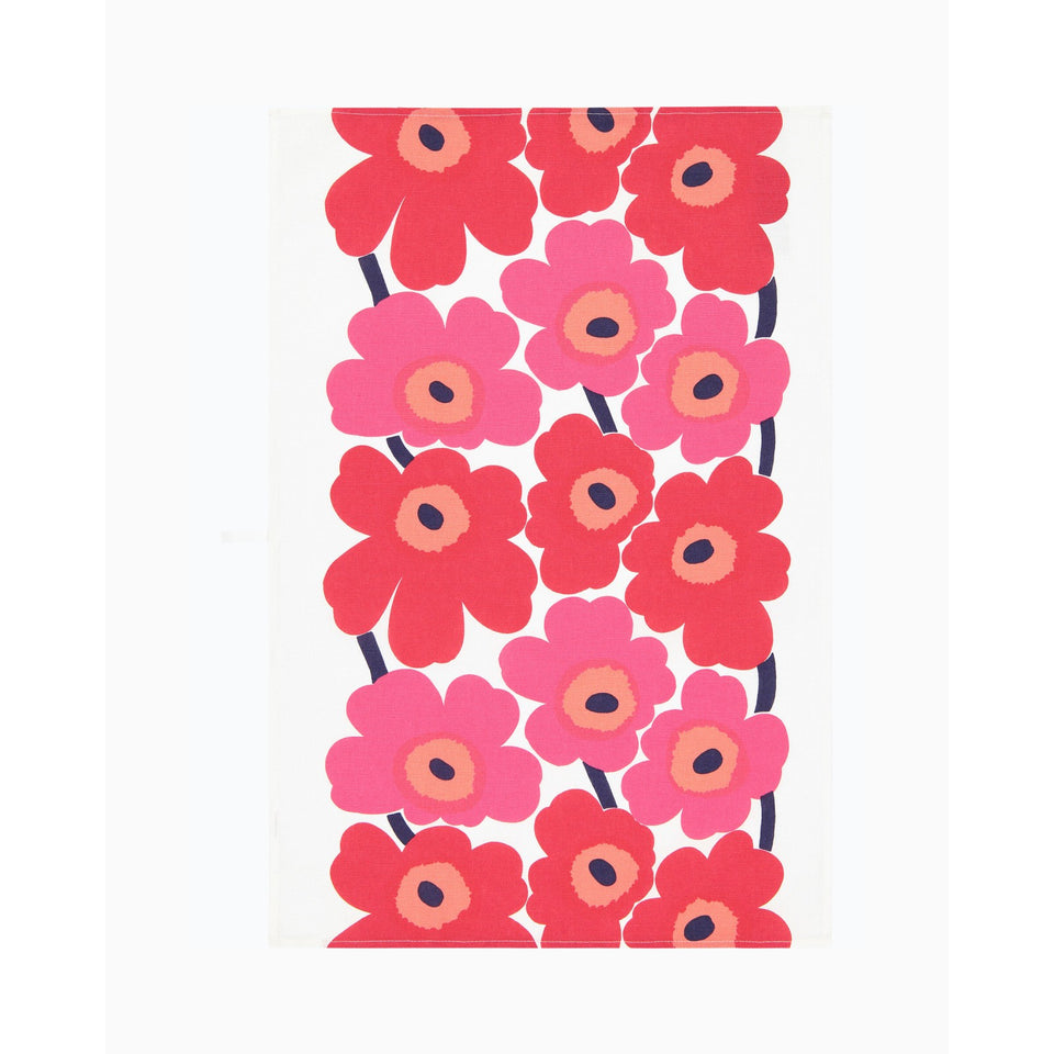 Unikko tea towel 2 pcs - Red