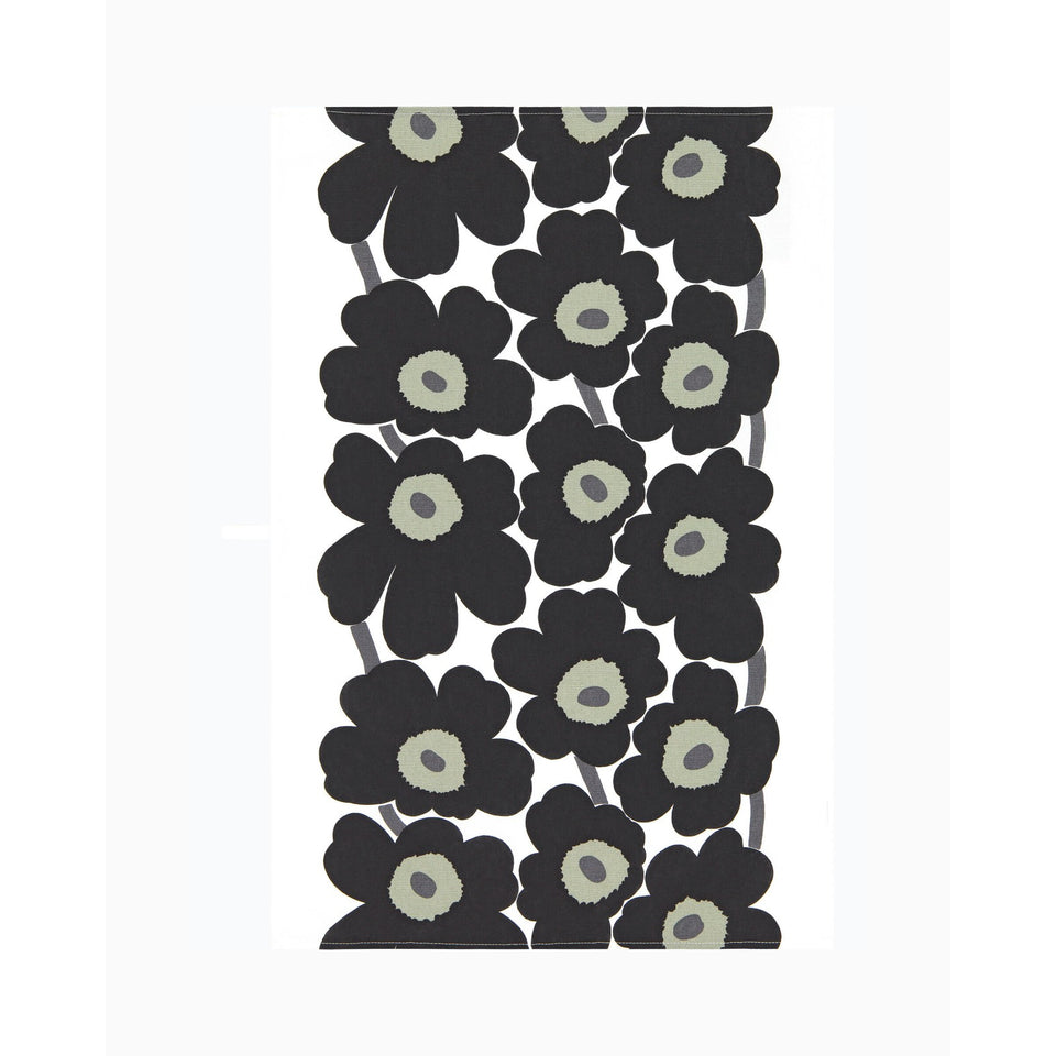 Unikko tea towel 2 pcs - Black