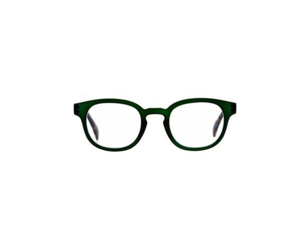 9am Green Reading Glasses