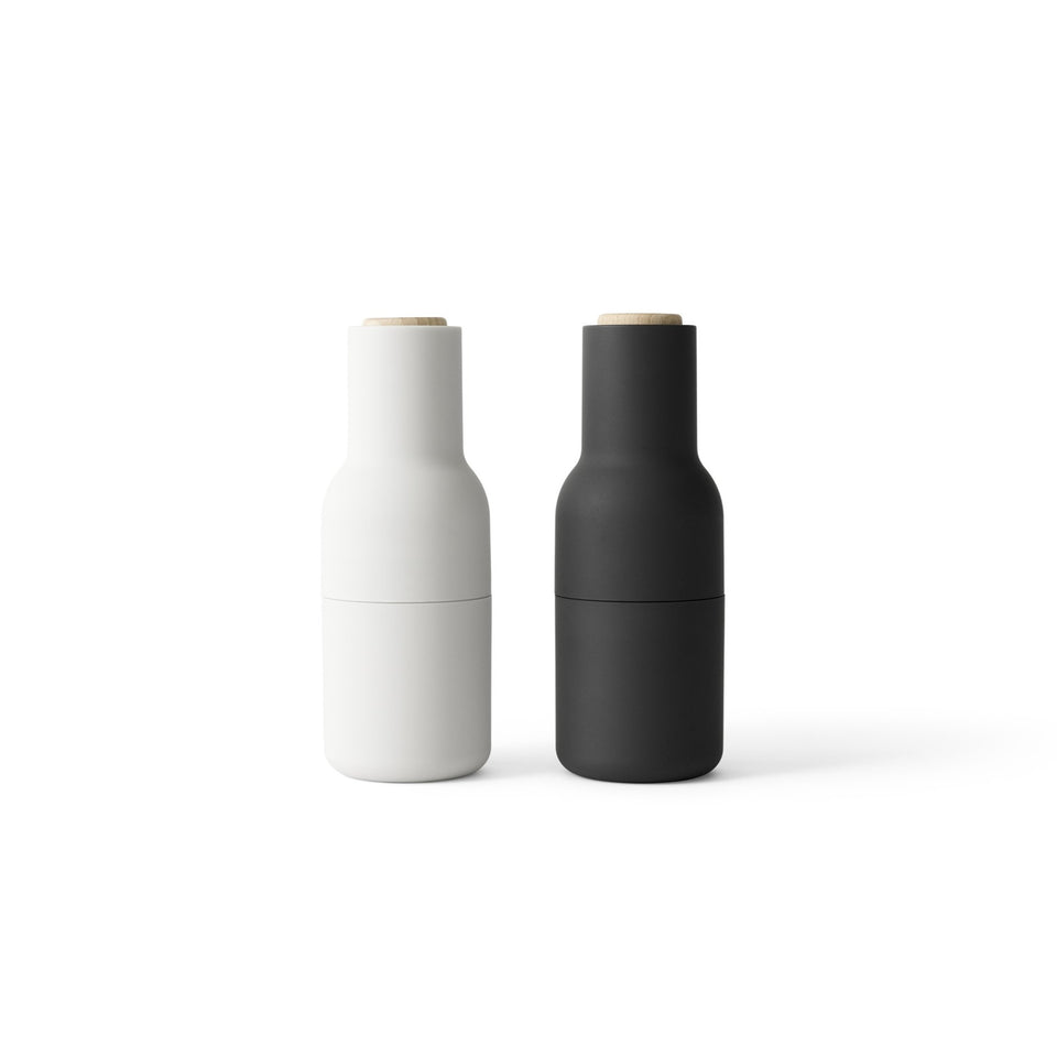 MENU 2 pack Bottle Grinder w. Beech Lid - Ash/Carbon