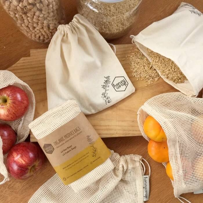 Honeywrap Organic Bags - 5 pack