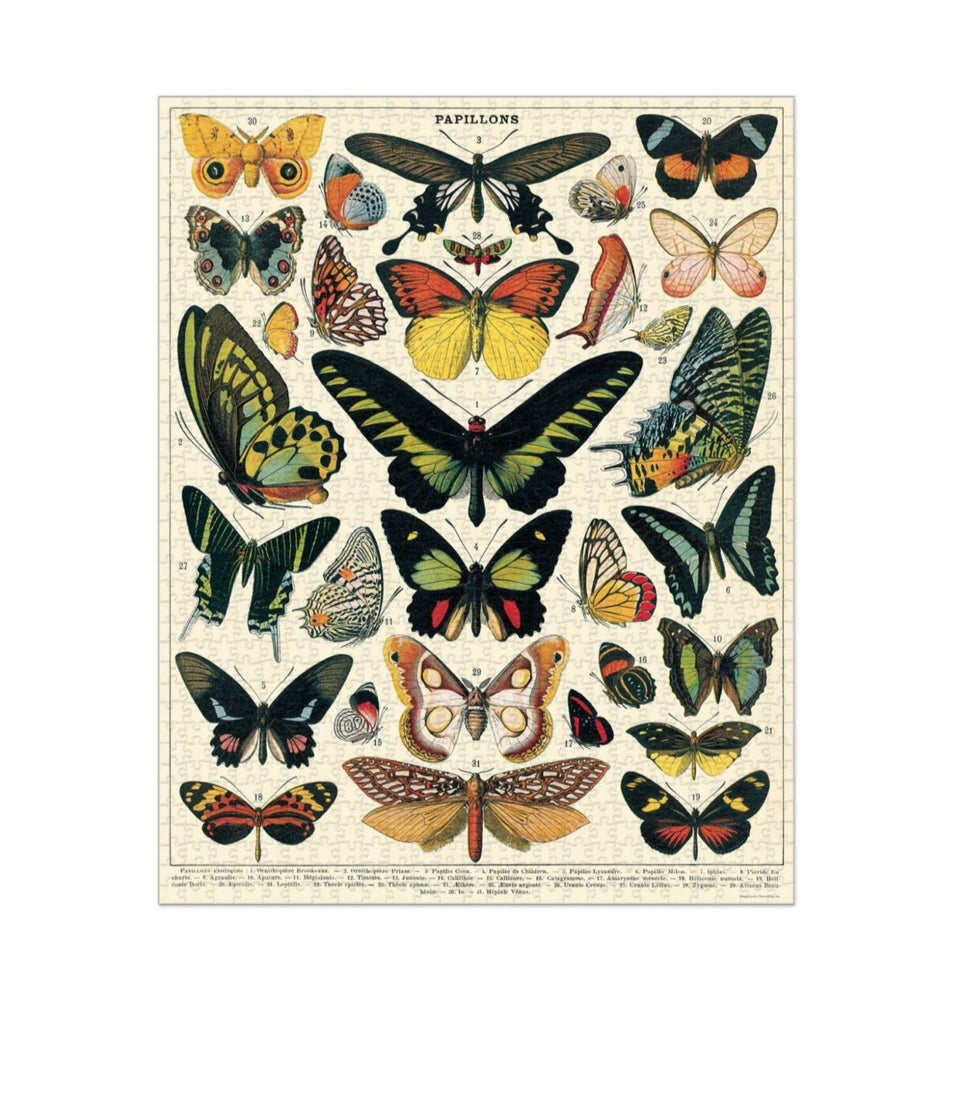Butterflies Vintage Puzzle - 1000 pieces