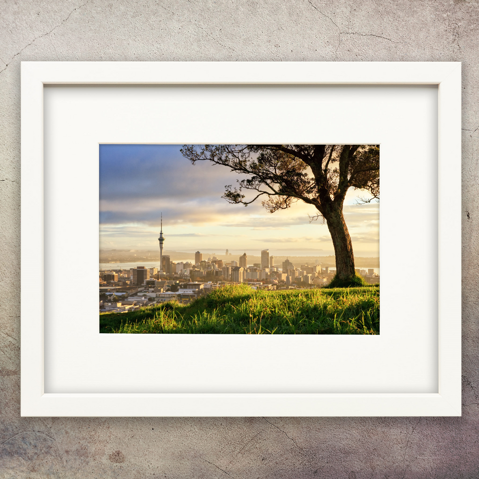 A4 framed print - Auckland from Mount Eden