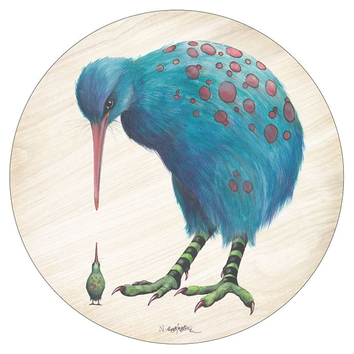 Pikitia Coaster - The Great Spotted and Little Spotted Kiwi