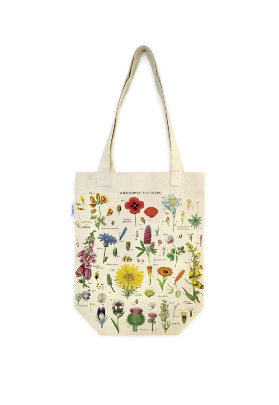 Wildflowers Vintage Tote Bag