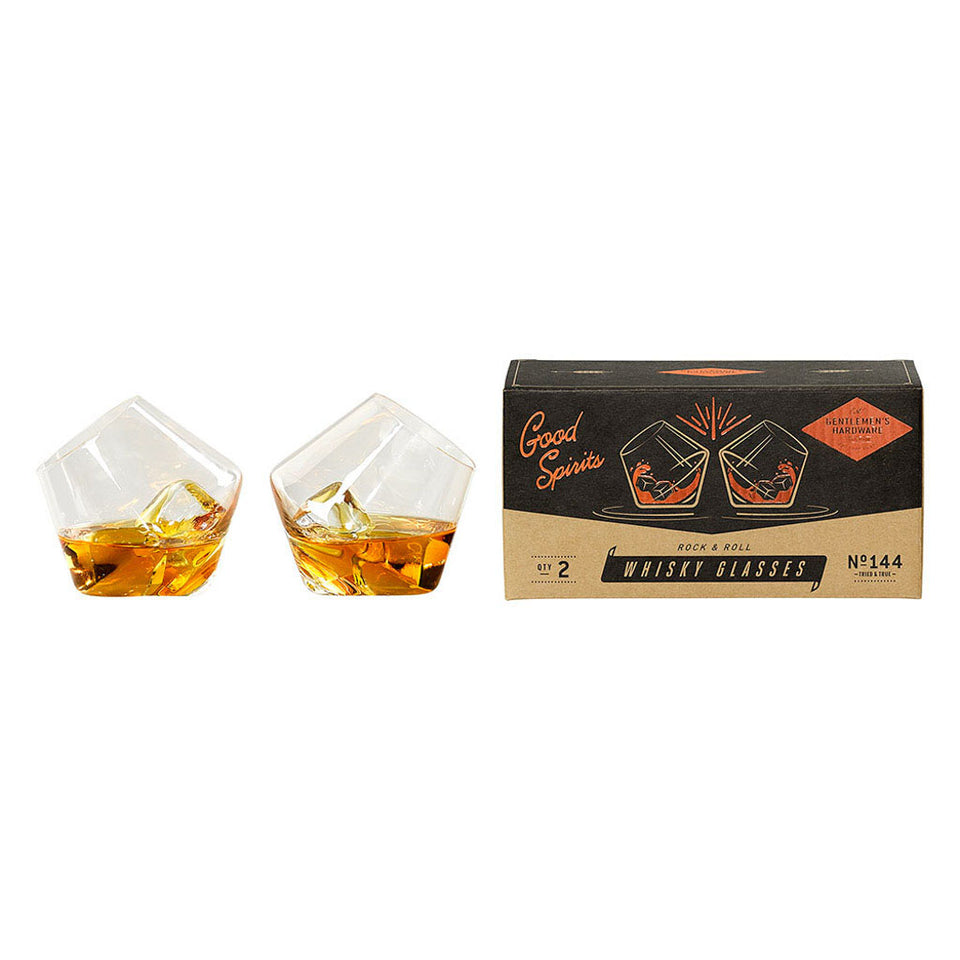 Rock & Roll Whisky Glasses Set of 2