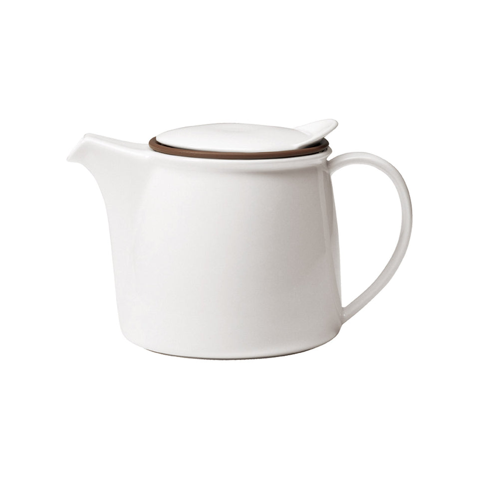 Brim Teapot - 750ml White