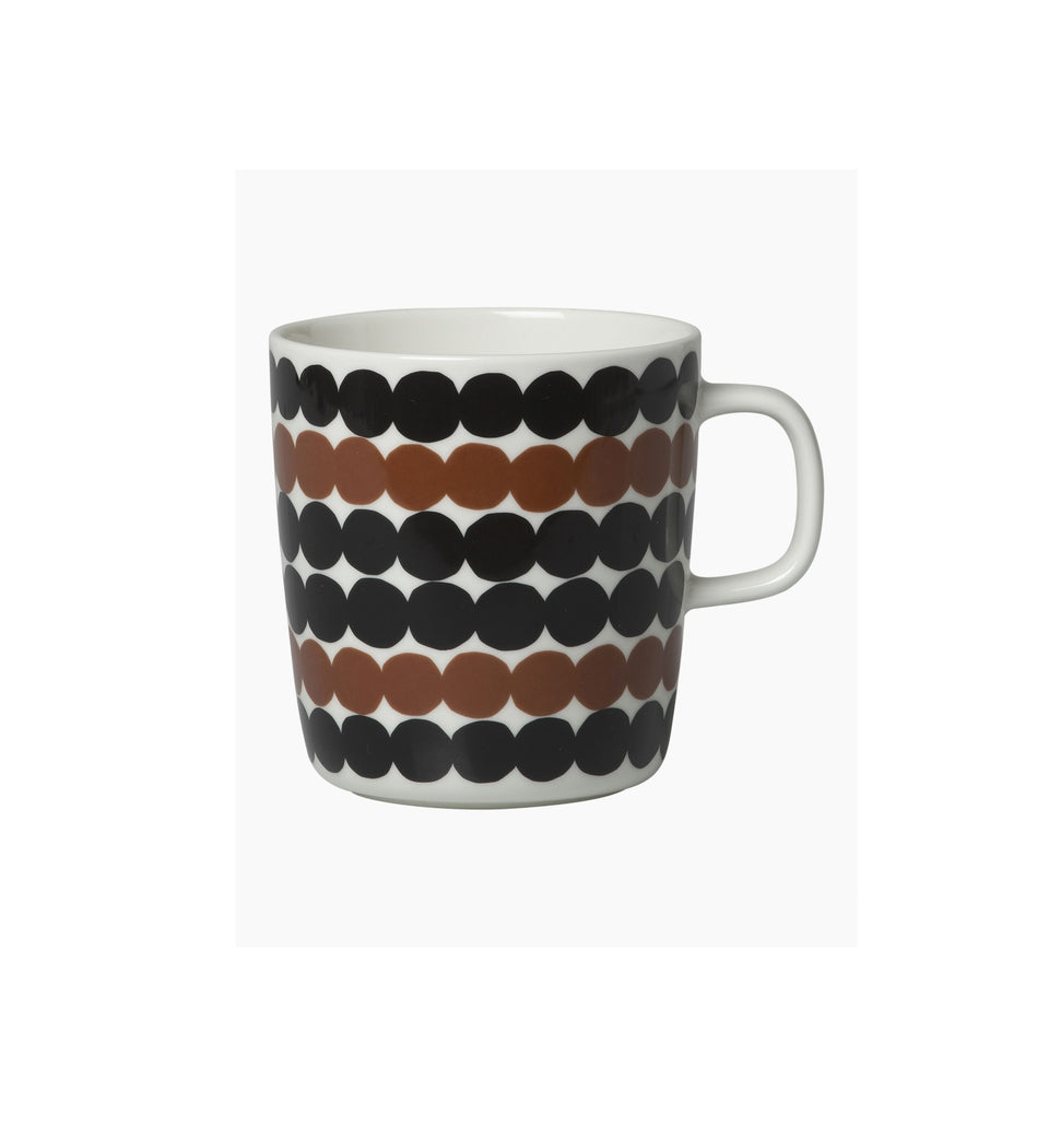 Oiva/Räsymatto mug 4 dl - black, brown