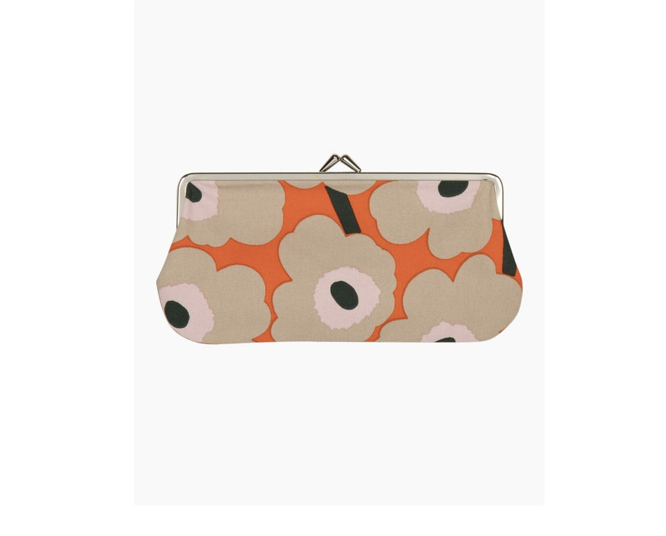 Silmälasi Kukkaro Mini Unikko Purse - Orange