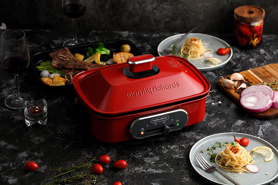 Morphy Richards Multifunction Cooking Pot - Red