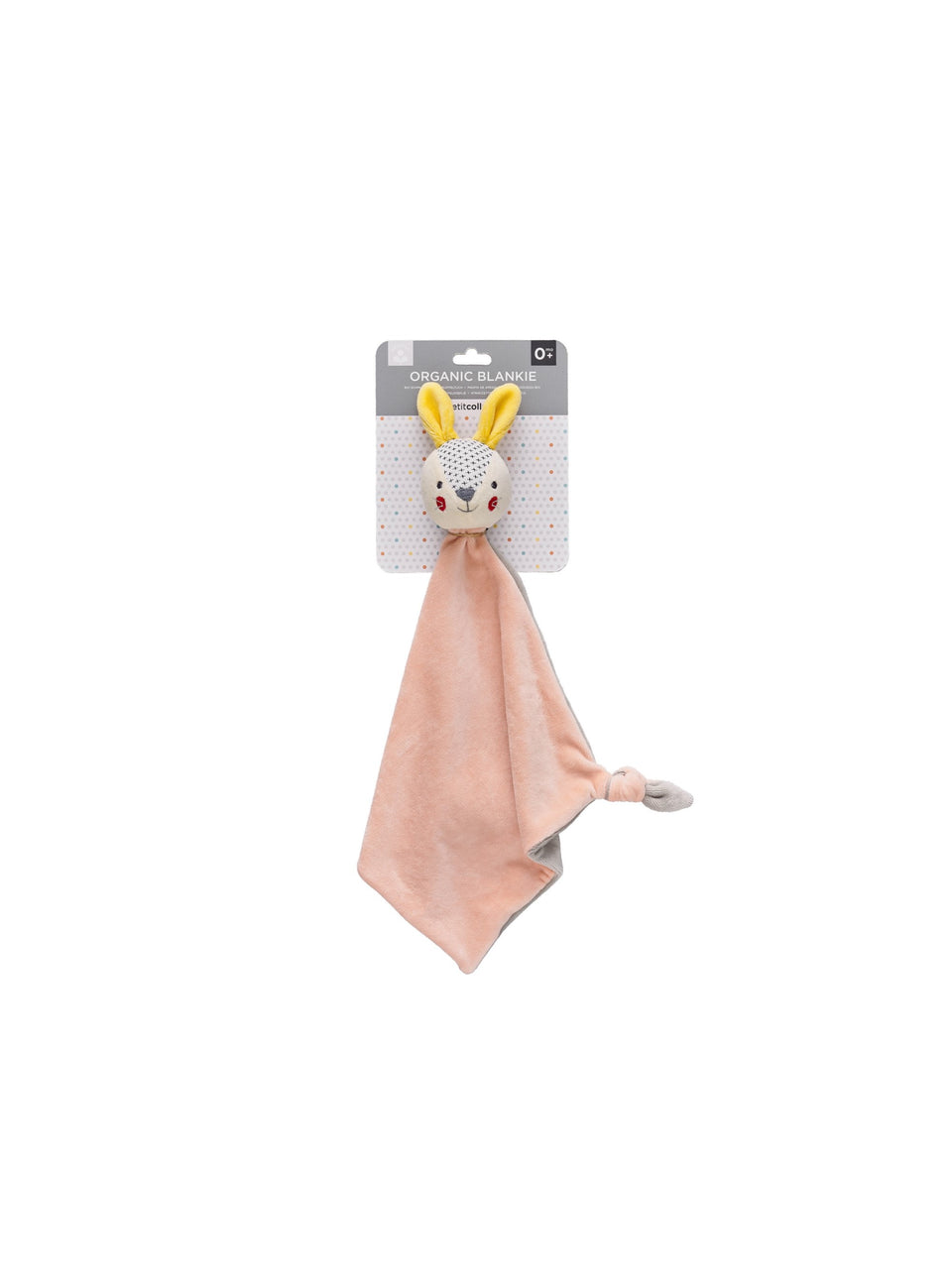 Petit Collage Organic Blankie Bunny Pink