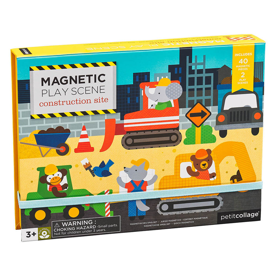 Petit Collage Construction Site Magnetic Play Scene
