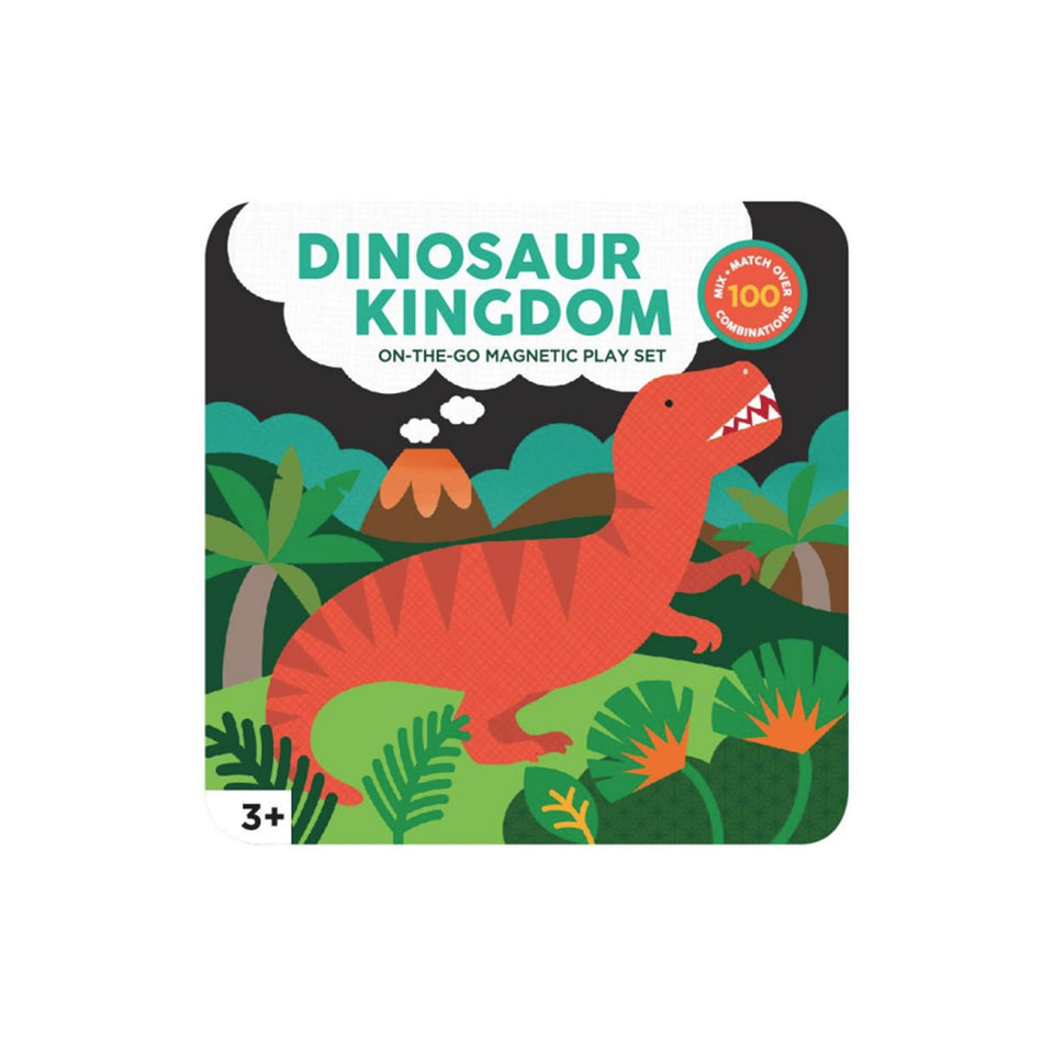 Dinosaur Kingdom On The Go Magnetic Play Set