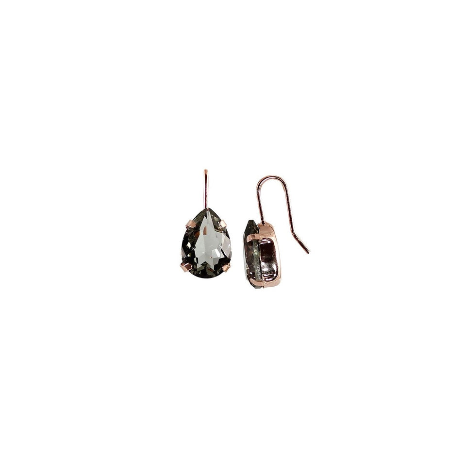 Smokey Brown Teardrop Earrings
