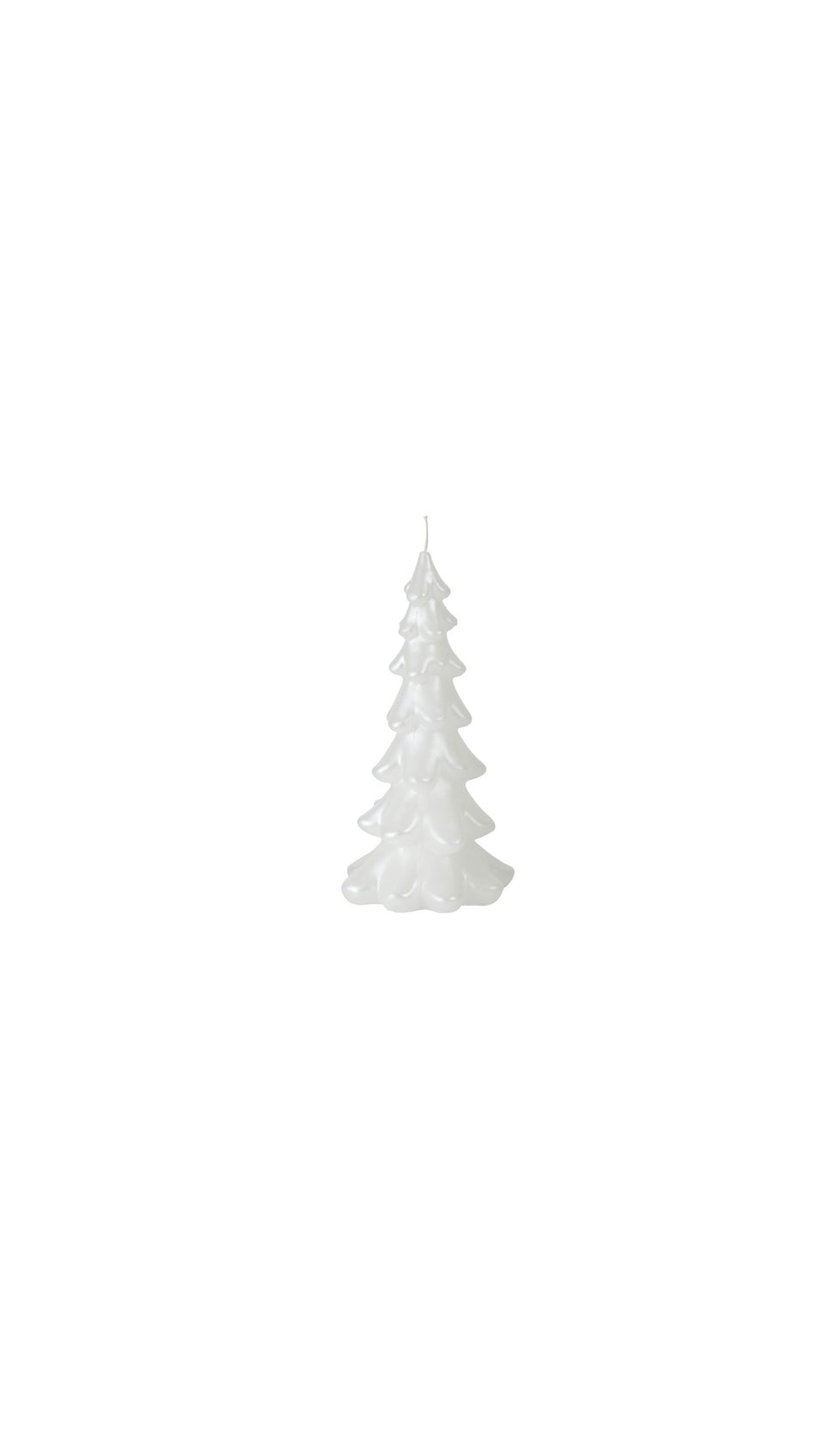 Tree Candle Tall - Pearl White